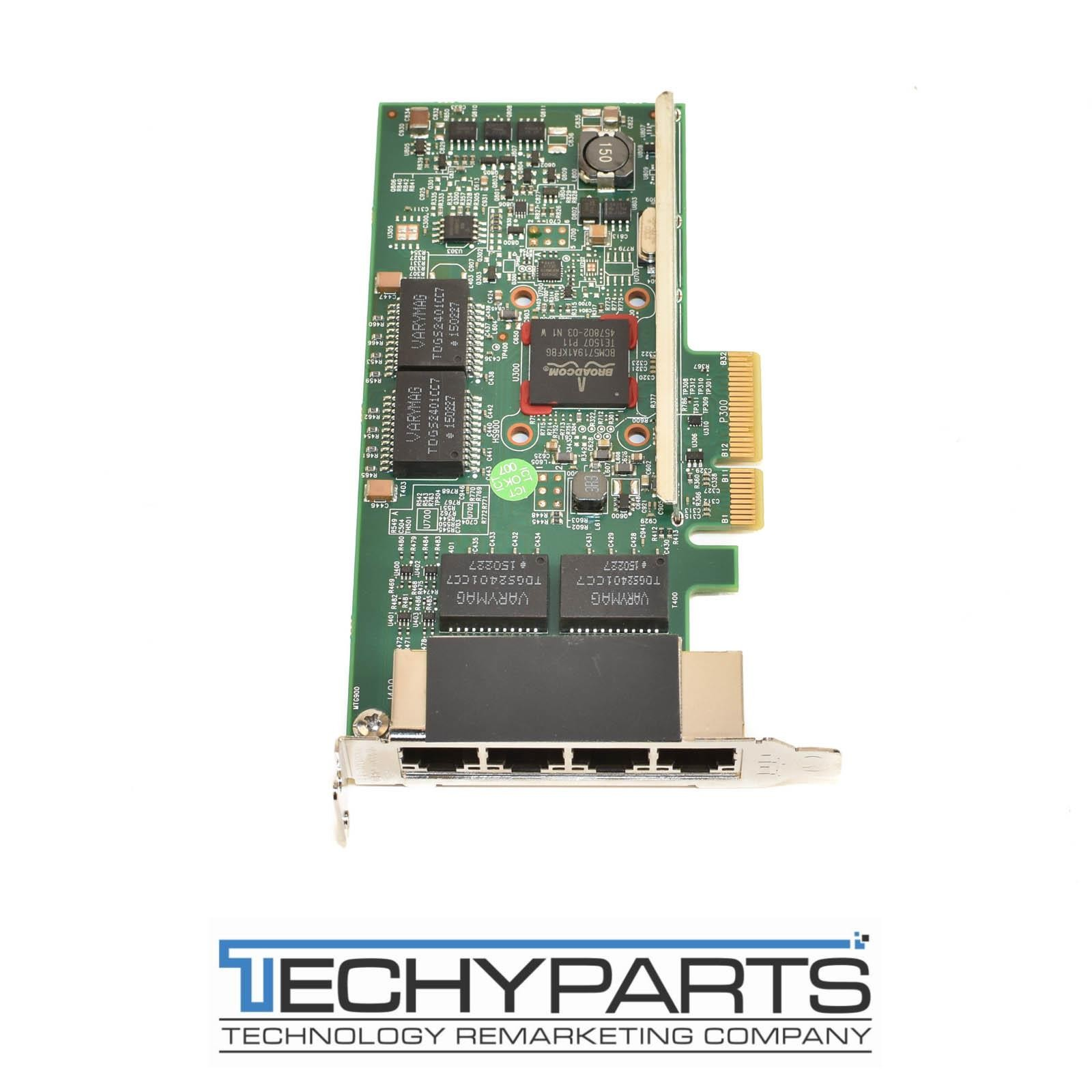 network interface cards networking dell tmgr6 broadcom 5719 1gbe 4 port pci e x4 low profile nic bcm95719a1904g