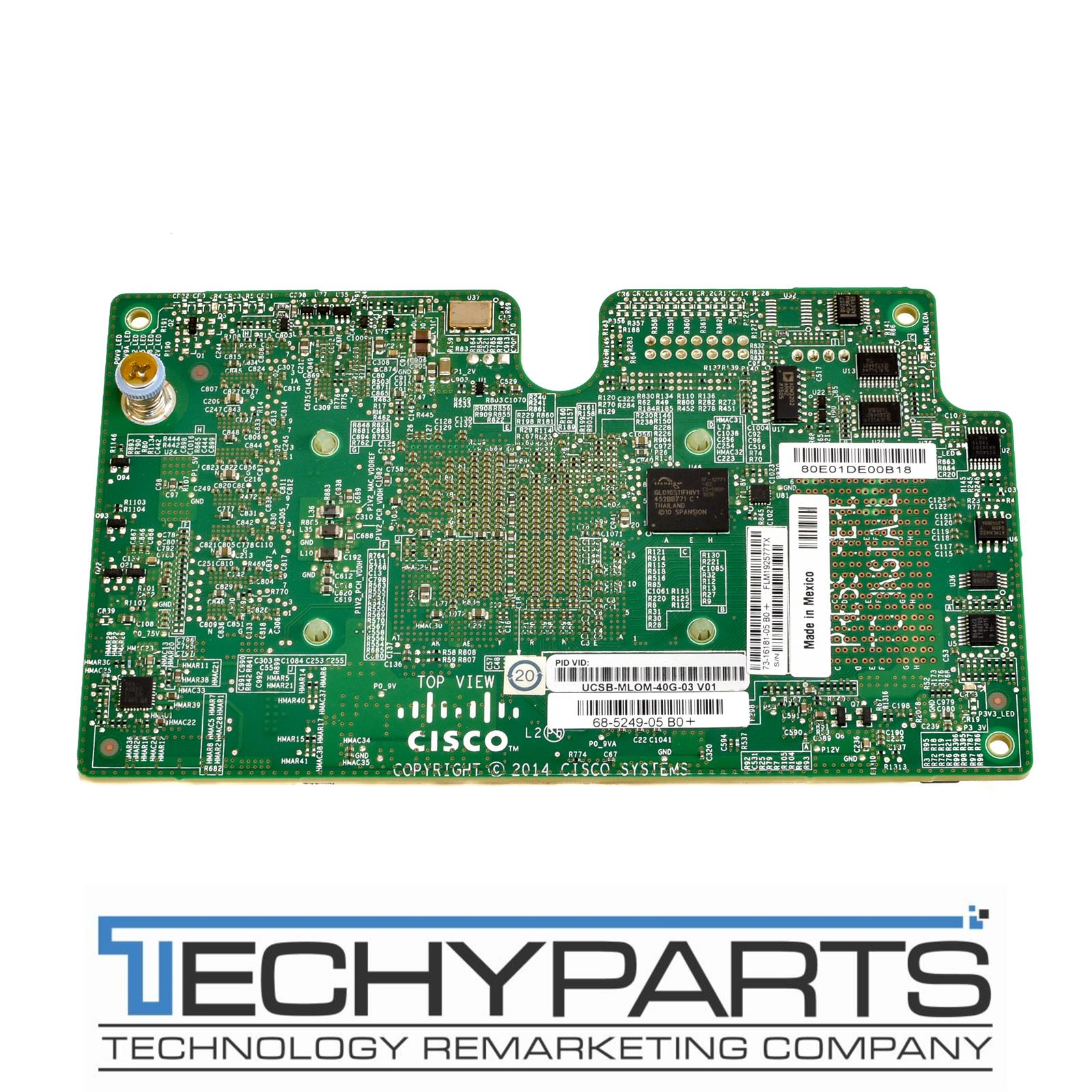 Details about CISCO UCSB-MLOM-40G-03 v01 VIC 1340 Modular LOM 40GbE  68-5249-05 B0+ Adapter