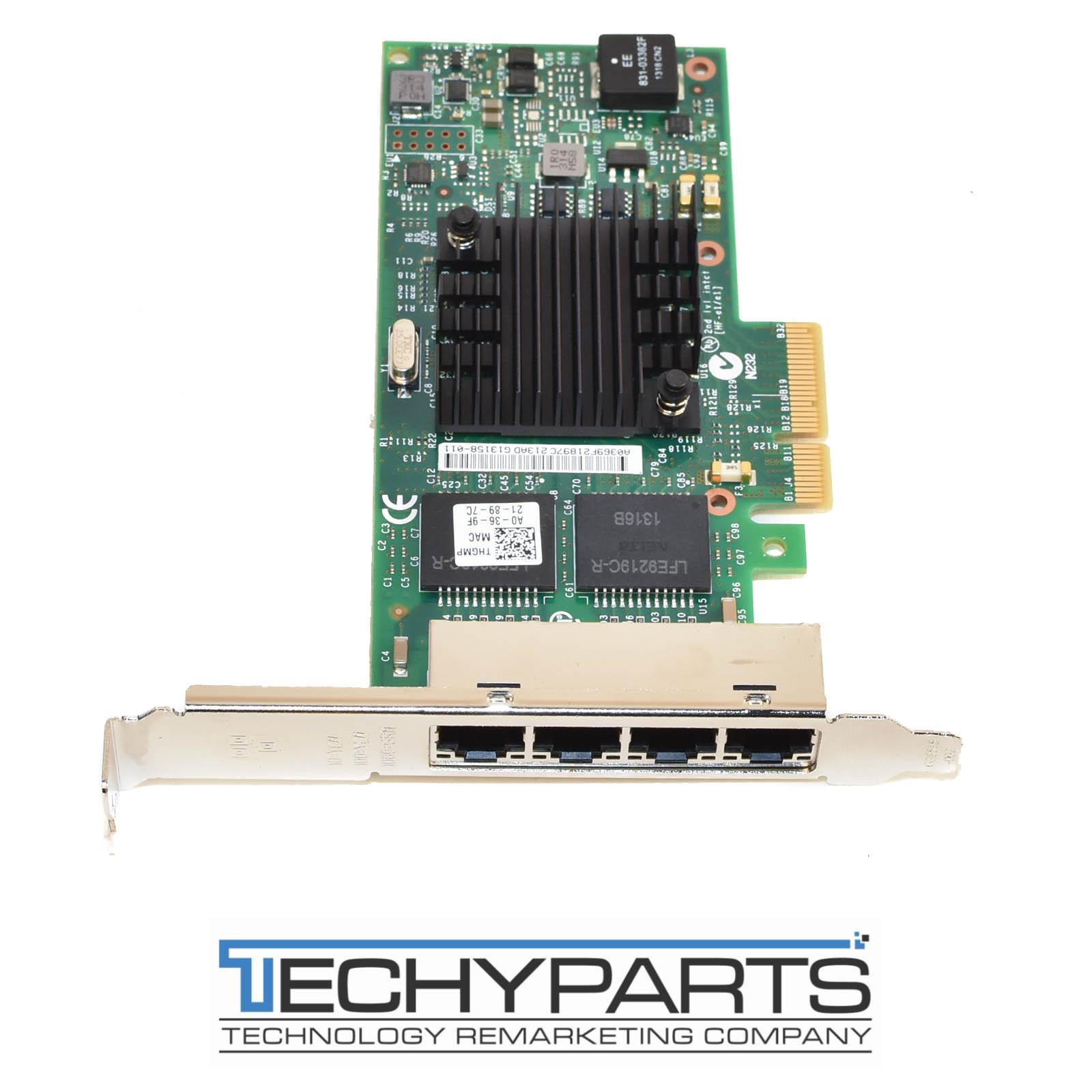 Details about Dell THGMP Intel I350-T4 4-Port 1Gbps Ethernet PCI-e x4  Full-height Server NIC