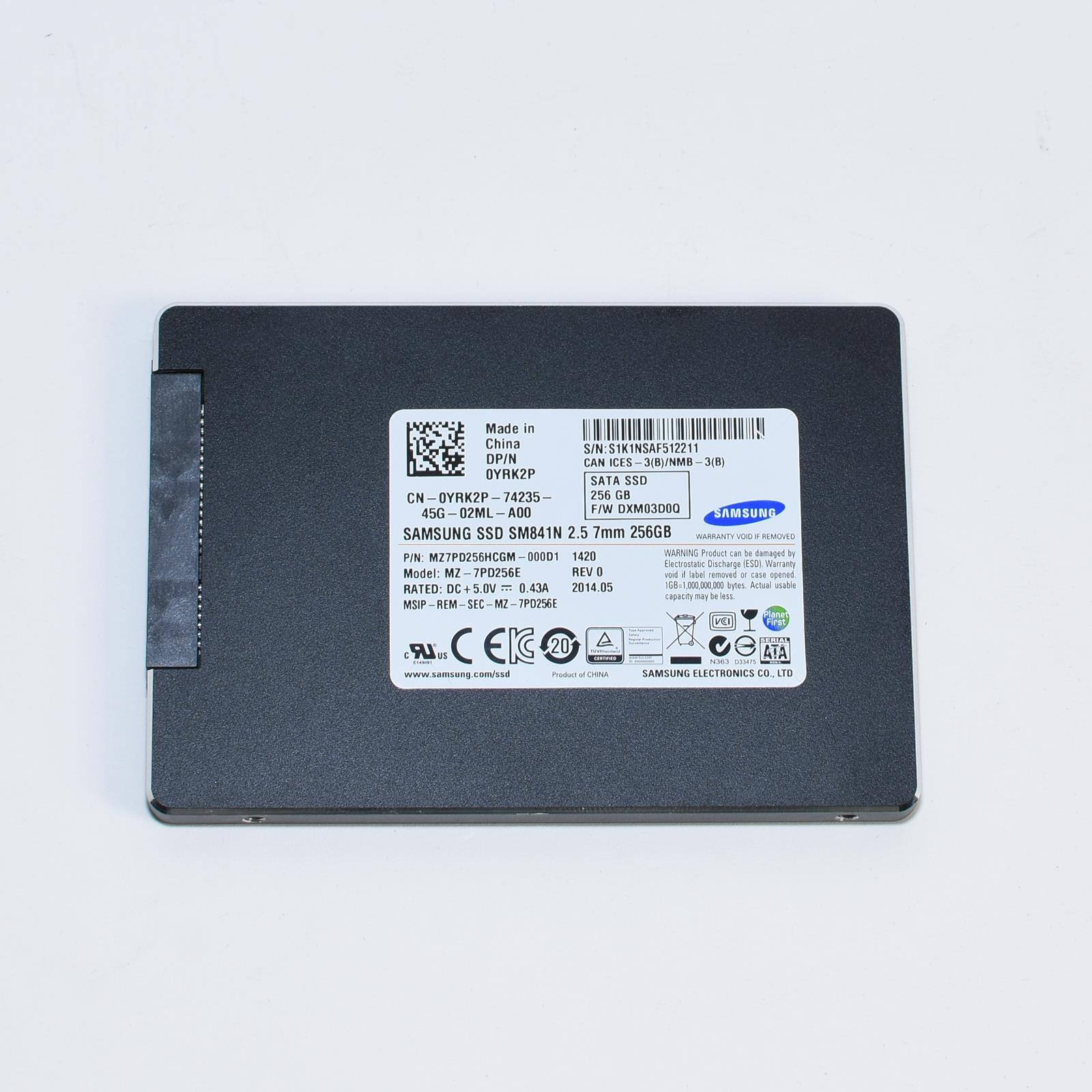 Details about DELL YRK2P Samsung SM841N 256GB SATA 6 0Gbps 2 5