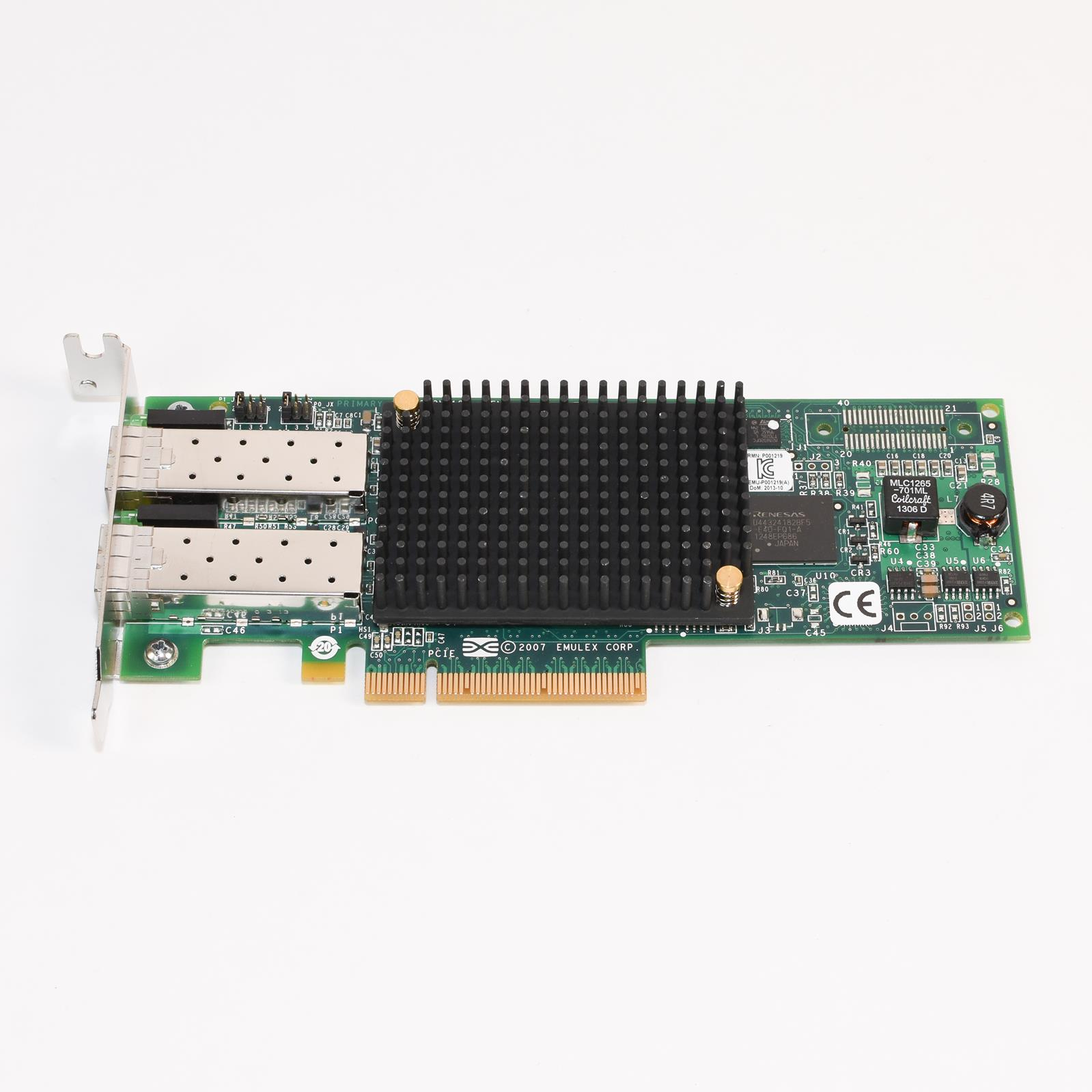 Emulex IBM 42D0500 LPE12002 8GB FC HBA 2 Port PCIe HP Dell Adapter Card High Pro