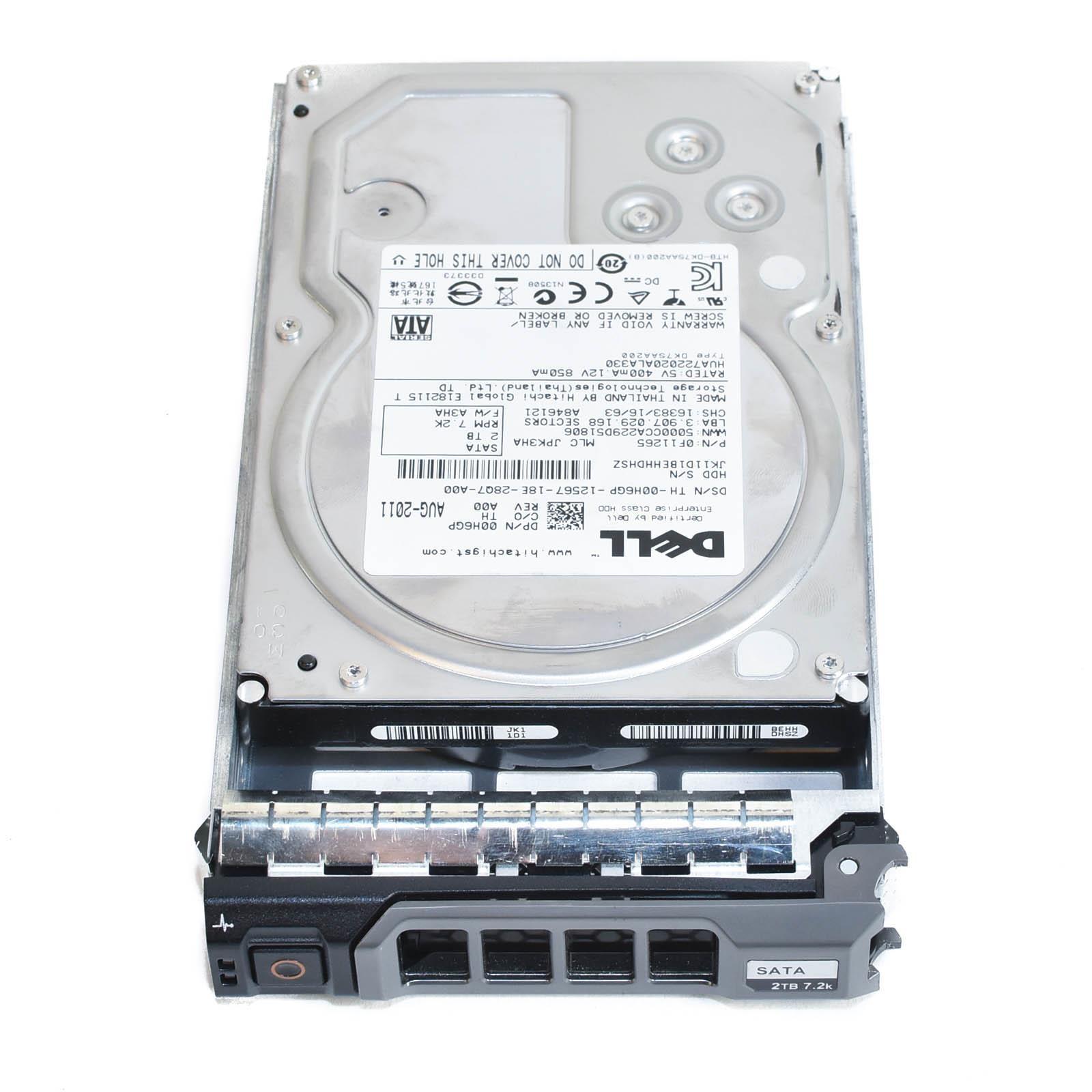 "Dell 2TB 7.2K 3.5/"" SATA 0H6GP HDD Hard Drive"