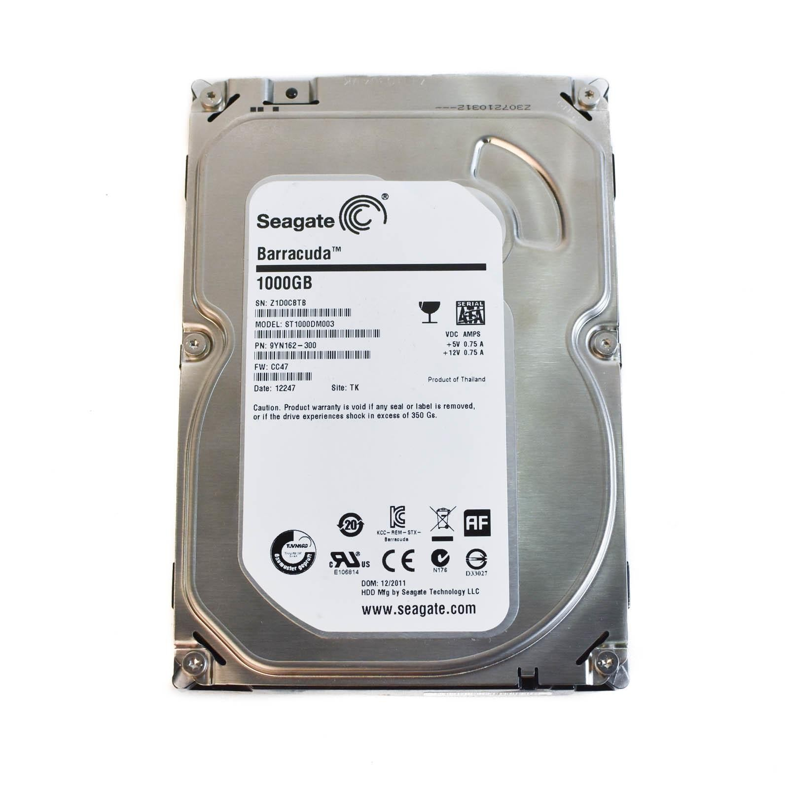 Seagate 1tb 72k 35 Sata Iii 6gbps 64mb Cache Hard Drive Barracuda Baracuda St1000dm003 83104 35983 Base Click On Thumbnails To Enlarge