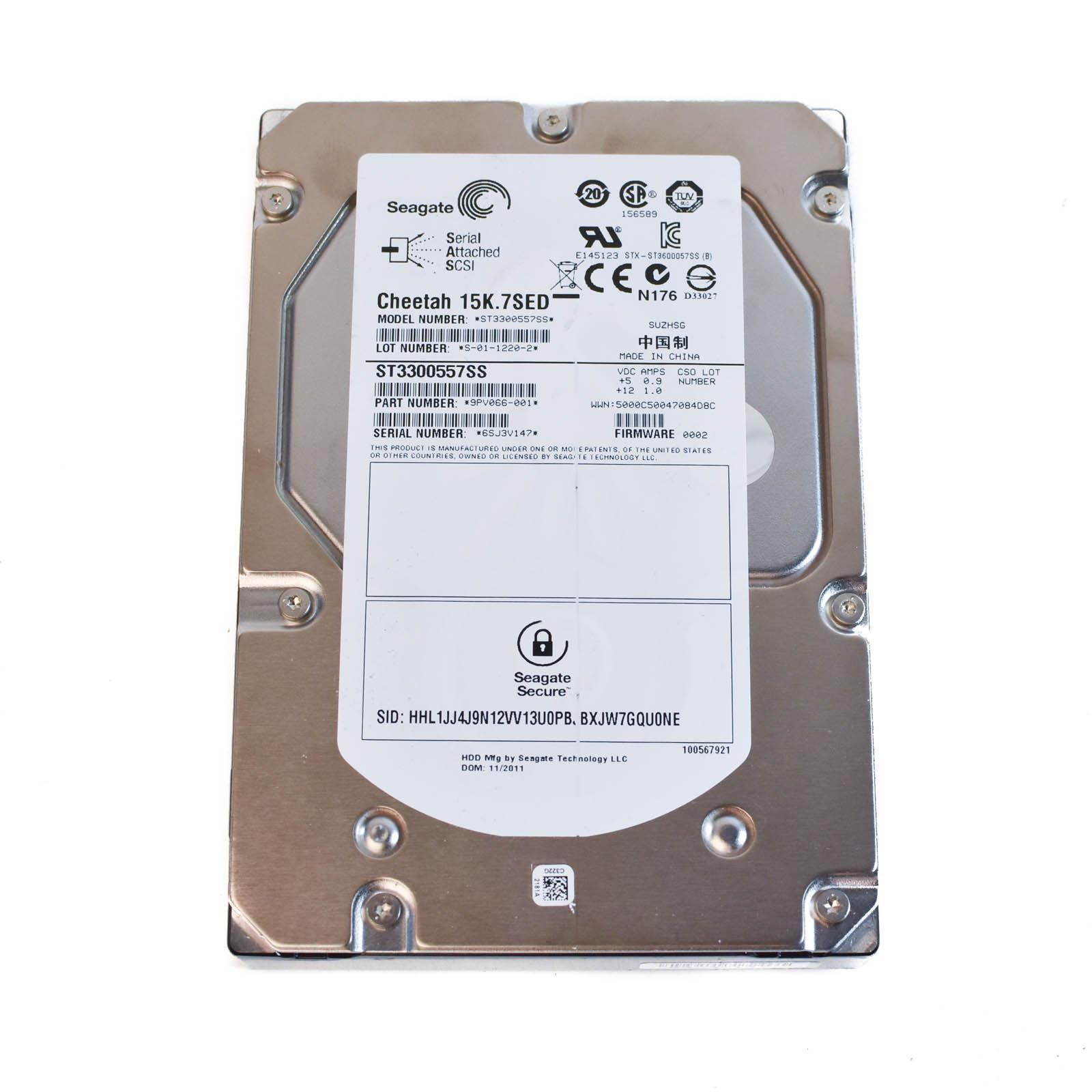 "Seagate 300GB 15K 3.5/"" SAS 6G 16MB Cache Hard Drive Cheetah 15K.7SED ST3300557SS"