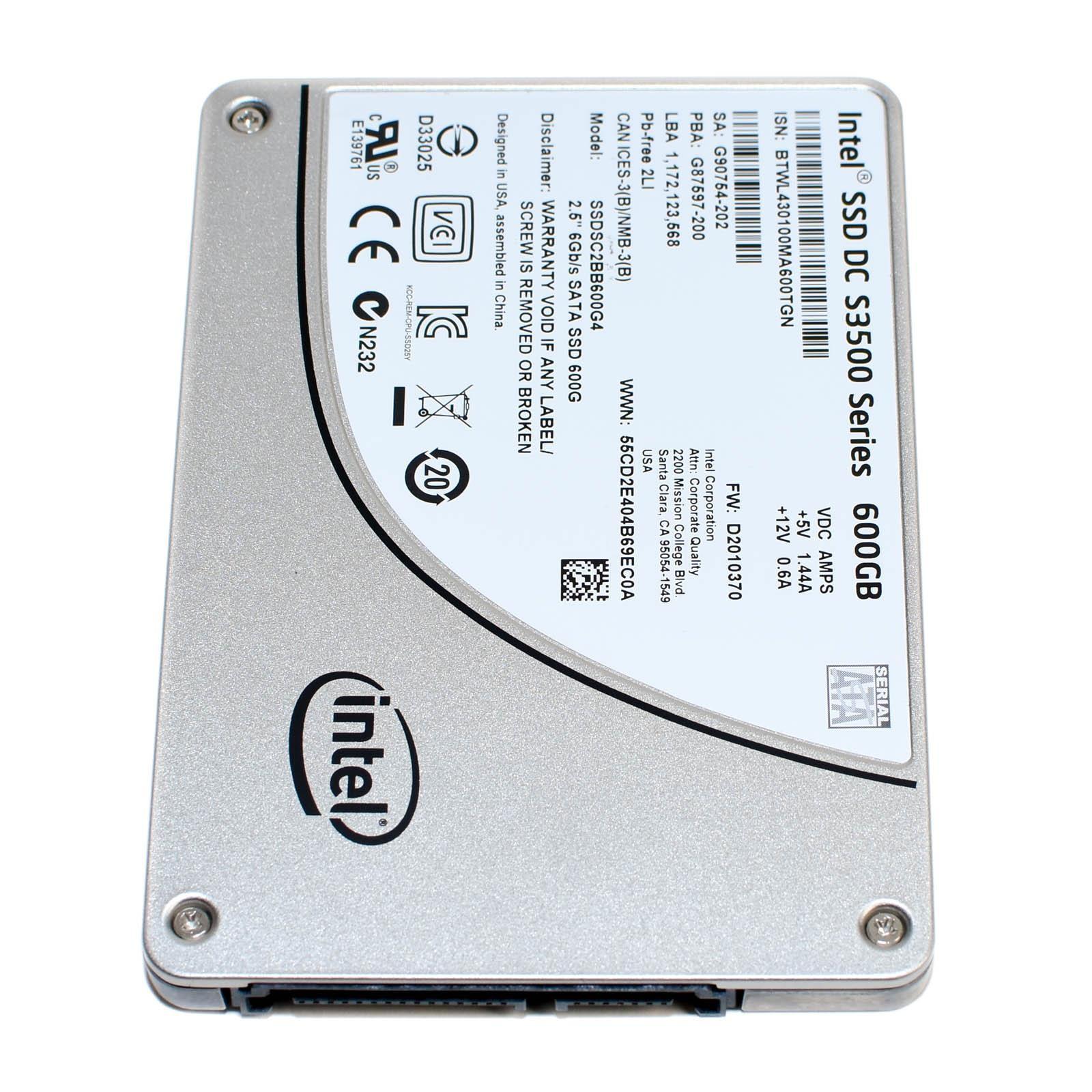 """Intel SSDSC2BB600G4 SSD 2.5/"""" SATA Solid State Drive Dell 600GB Internal 2.5/"""""""