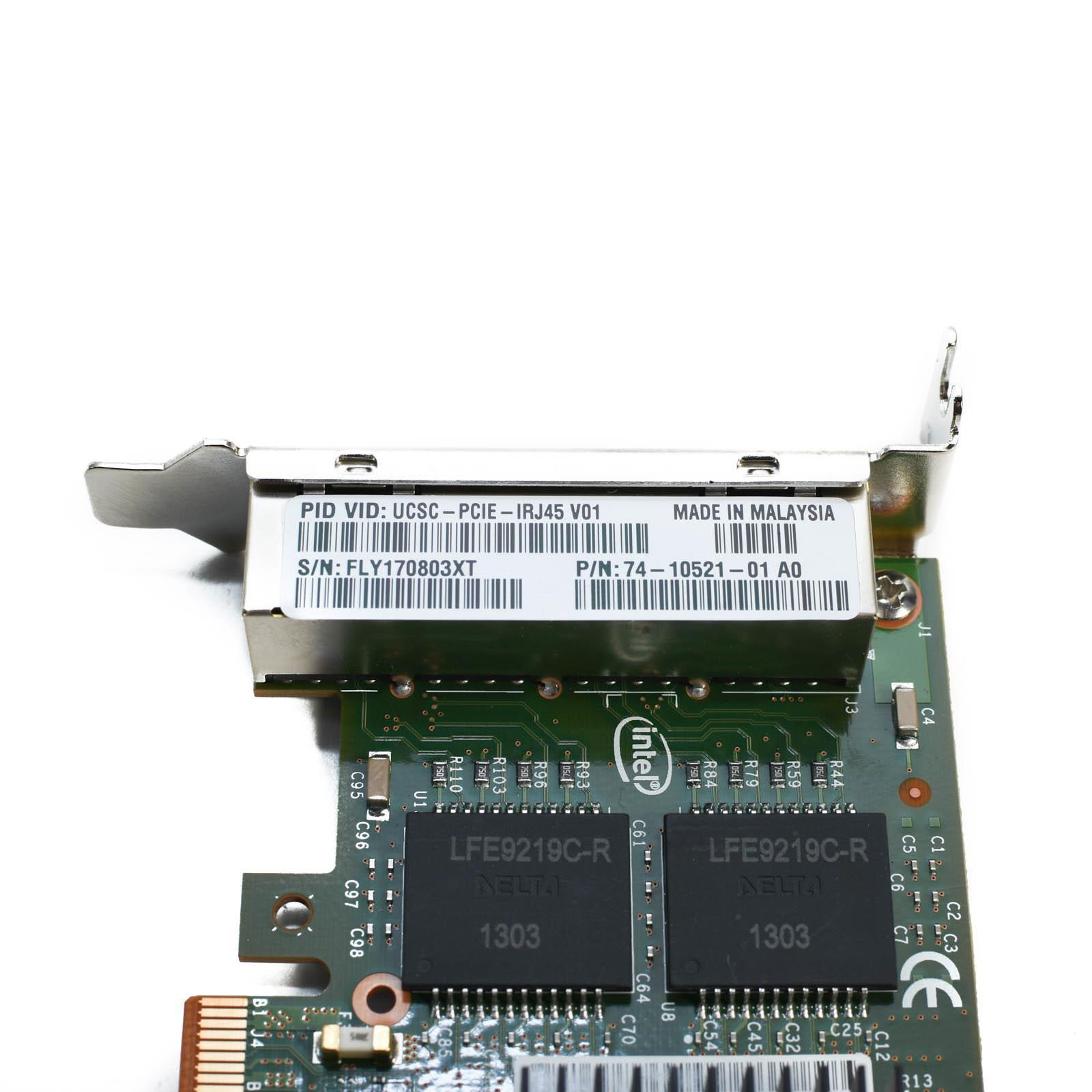 Cisco UCSC-PCIE-IRJ45 Intel I350 4-Port 1Gb PCI-e X4 Low-Profile