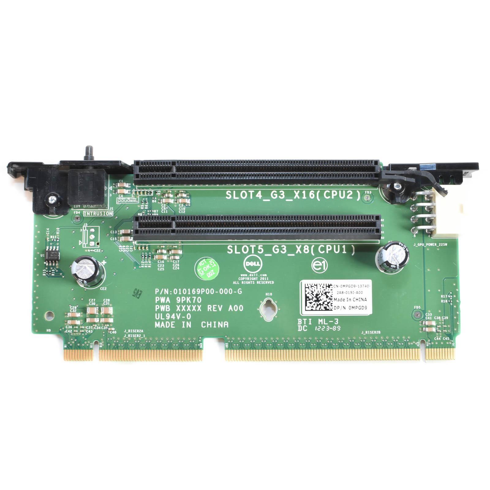 Dell MPGD9 PCI Riser Card #2 For PowerEdge R720, R720XD